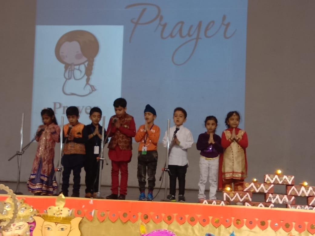 Special assembly by LM students on Diwali